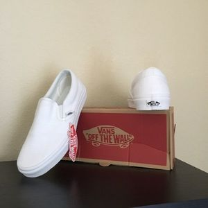 Vans Shoes - Vans white Hemp Linen Slip On Shoes
